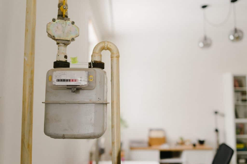 gasometer at home, gas counter,