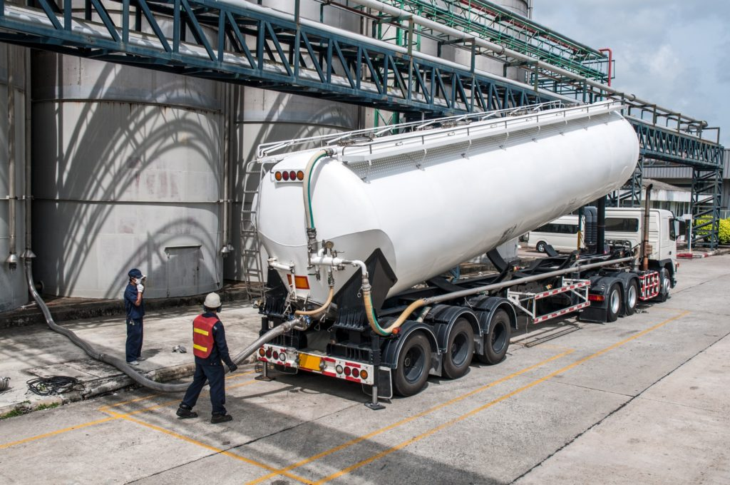 Truck, Tanker Chemical Delivery