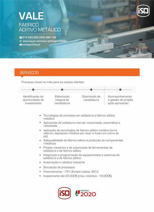 ISQ | FABRICO ADITIVO METÁLICO O ISQ é líder de mercado em tecnologias de proces…