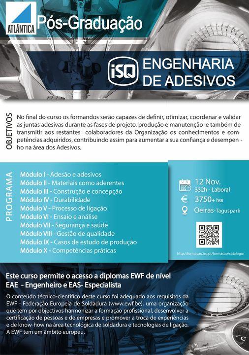 ISQ inova na área da Formação lançando uma nova Pós Graduação. A Engenharia de A…